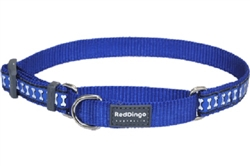 Dark Blue Reflective Bones - Martingale Collar