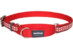 Red Reflective Bone - Martingale Collar