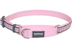 Pink Reflective Bone - Martingale Collar