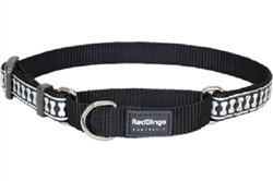 Black Reflective Bone - Martingale Collar