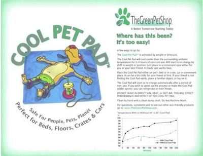 Cool Pet Pad - It's Waterless!