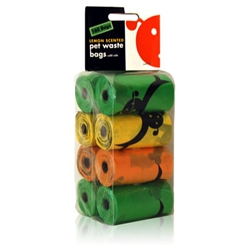 Unscented Biodegradable Waste Pick-Up Bags - 8 Refill Rolls
