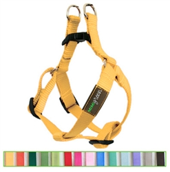 Sunshine Yellow Solid Nylon Webbing Dog Harness