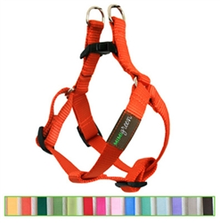 Pumpkin Orange Solid Nylon Webbing Dog Harness