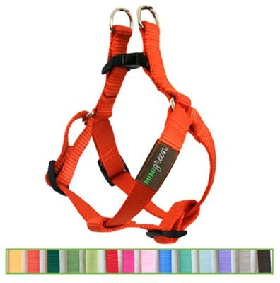 Pumpkin Orange Solid Nylon Webbing Dog Harness