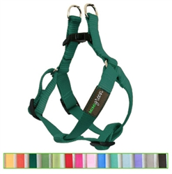 Hunter Green Solid Nylon Webbing Dog Harness