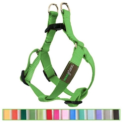 Sage Green Solid Nylon Webbing Dog Harness