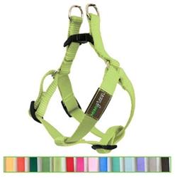 Lime Green Solid Nylon Webbing Dog Harness