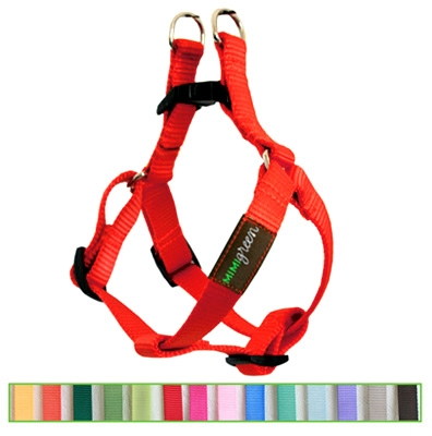 Fire Hydrant Red Solid Nylon Webbing Dog Harness