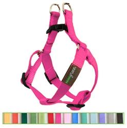 Raspberry Solid Nylon Webbing Dog Harness