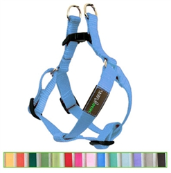 Sky Blue Solid Nylon Webbing Dog Harness