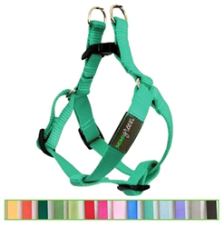 Teal Solid Nylon Webbing Dog Harness