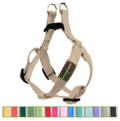 Slate Grey Solid Nylon Webbing Dog Harness