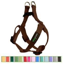 Choco Brown Solid Nylon Webbing Dog Harness