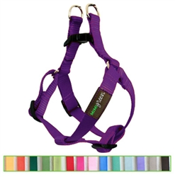 Dark Purple Solid Nylon Webbing Dog Harness