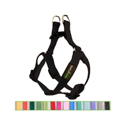 Black Solid Nylon Webbing Dog Harness
