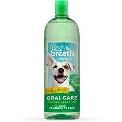 TropiClean Water Additive Oral Care 33.8 oz. Bottle