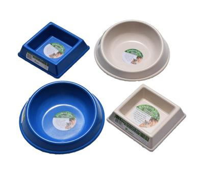 "Square ""Food"" Bamboo Bowls - For Cats"