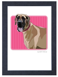 Great Dane, Fawn - Grrreen Boxed Note Cards