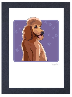 Poodle - Apricot - Grrreen Boxed Note Cards