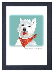 Westie w/ Bandana - Grrreen Boxed Note Cards