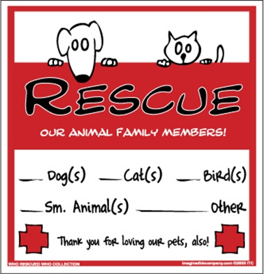Pet Rescue Decal - Style 2