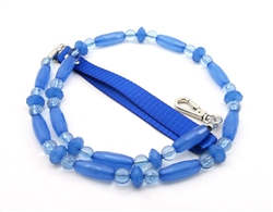 Fabuleash Beaded Dog Leash - Big Paw Leash - Blue