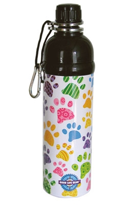 Pet Water Bottle - PUPPY PAWS (24 oz )