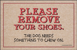 Shoes to Chew On - Doormat
