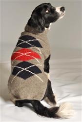 Grey Classic Argyle Sweater