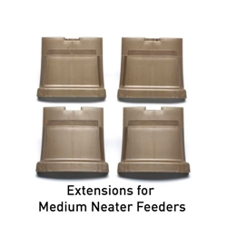 Leg Extensions for Neater Feeders, (Set of Four)