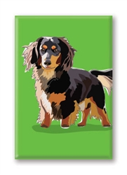 Dachshund Long Hair - Fridge Magnet