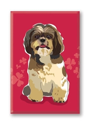 Shihtzu Sitting - Fridge Magnet