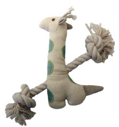 Simply Fido Basic Collection - Little Gable Natural Giraffe Canvas Rope toy