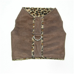 Chocolate Leopard Vest by Ruff Ruff Couture®