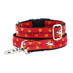 Dirty Dogs Have More Fun Collars & Leads a Teddy The Dog & 2 Hounds Design Collaboration