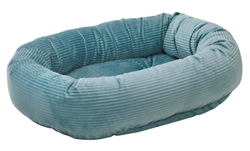 Donut Bed Blue Bayou Microcord