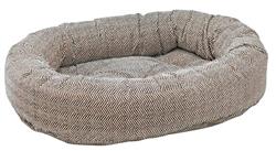 Donut Bed Herringbone Microvelvet