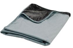 Plush Throw Blue Bayou Microcord (Grey Teddy)