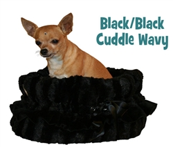 Black & Black Reversible Snuggle Bug w/ Black ruffle trim