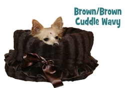Brown & Brown Reversible Snuggle Bug w/ Brown ruffle trim