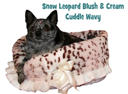 Light Blush & Cream Snow Leopard Print Reversible Snuggle Bug