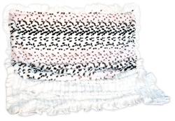 Light Leopard Blush & Cream with Wavy Cream Ruffle Trim - SleepyTime Cuddle Blanket