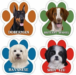 Paw Car Magnets - Dog Breeds