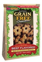 Grain Free Dried Beef Crunchers w/ Pumpkin & Broccoli (12oz)