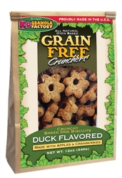 Grain Free Savory Duck Crunchers with Apple & Cranberry (12oz)