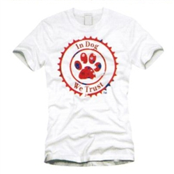 Women's White In Dog We Trust™ T-Shirt