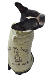 Rub My Belly for Good Luck Hoodie