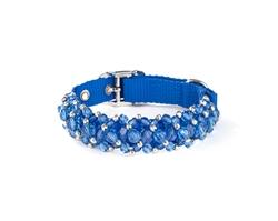 Fabuleash Beaded Dog Collar - FabuCollar - Sapphire