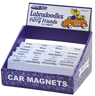 I (Heart) My (Breed) Bone Magnets - Display Box